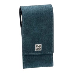 Маникюрный набор Erbe, 3 предмета, цвет синий, кожаный футляр 94960ER