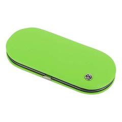 Маникюрный набор GD, 5 предметов, цвет зеленый, кожаный футляр 1554G