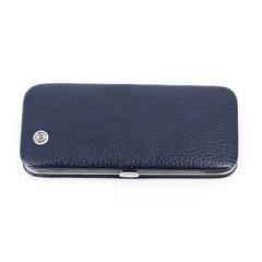 Маникюрный набор GD, 5 предметов, цвет синий, кожаный футляр 1552BlOM