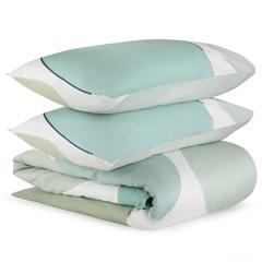 Комплект постельного белья двуспальный из сатина мятного цвета с авторским принтом из коллекции Freak Fruit Tkano TK20-DC0053
