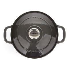 Кастрюля чугунная 20 см (2,3л) CHASSEUR Caviar (цвет: cеребристо-черный) арт. 472089