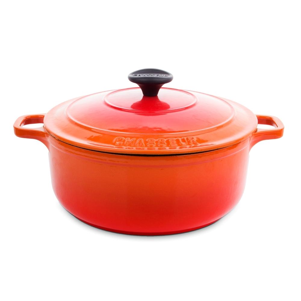 Кастрюля чугунная 22 см (3,1л) CHASSEUR Orange (цвет: оранжевый) арт. 372207 фото