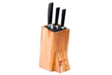 Набор из 3 кухонный керамических ножей Mikadzo Imari и универсальной подставки 4992019