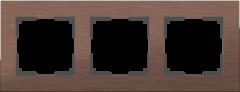 Рамка на 3 поста (коричневый алюминий) WL11-Frame-03 Werkel