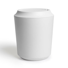 Корзина для мусора с крышкой Corsa-Kera белая Umbra 1005487-660