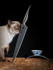 Нож кухонный для нарезки слайсер 274мм Samura REPTILE SRP-0045/Y