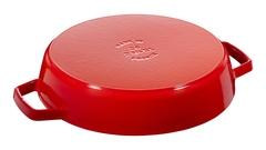 Сковорода Staub круглая, 26 см, с чугунными ручками, вишневая 12232606
