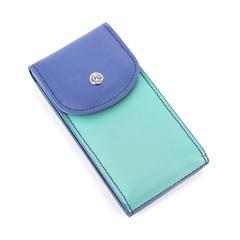 Маникюрный набор GD, 4 предмета, цвет синий/бирюзовый, кожаный футляр 1513GBN