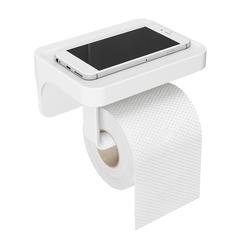 Держатель для туалетной бумаги с полочкой Flex белый Umbra 1014159-660
