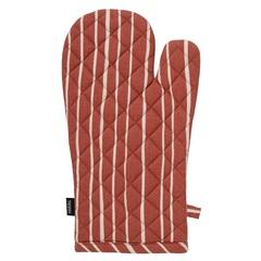 Прихватка-варежка из хлопка терракотового цвета с принтом Полоски из коллекции Prairie, 33х17,5 см Tkano TK20-OM0006