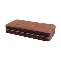 Мужской дорожный набор Dovo, 6 предметов, цвет коричневый, кожаный футляр 6009056