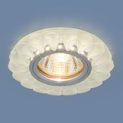 Встраиваемый точечный светильник с LED подсветкой 2210 MR16 Matt Ice матовый лед Elektrostandard