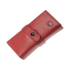 Маникюрный набор GD, 7 предметов, цвет красный, кожаный футляр 1520RLM