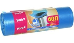 Мешки для мусора 60л (20 шт.) с завязками York 902170