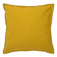 Чехол на подушку из фактурного хлопка горчичного цвета с контрастным кантом из коллекции Essential, 45х45 см Tkano TK20-CC0005