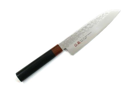 Нож кухонный стальной Сантоку (180мм) Suncraft Senzo 1012-02