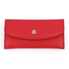 Маникюрный набор GD, 5 предметов, цвет красный, кожаный футляр 1512RLM