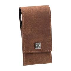 Маникюрный набор Erbe, 3 предмета, цвет коричневый, кожаный футляр 9496ER