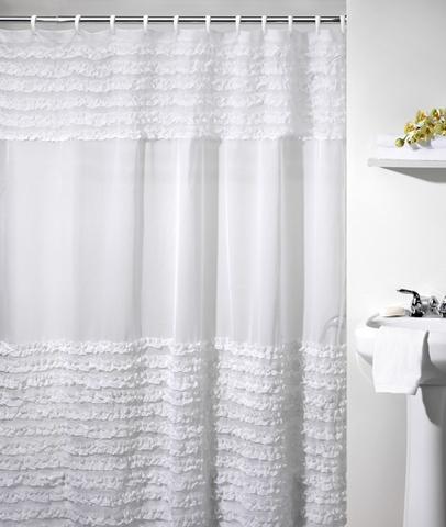 Шторка для ванной Creative Bath Ruffles S0892WH