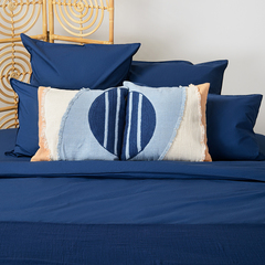 Чехол на подушку с геометрическим принтом и бахромой из коллекции Ethnic, 45х45 см Tkano TK20-CC0002