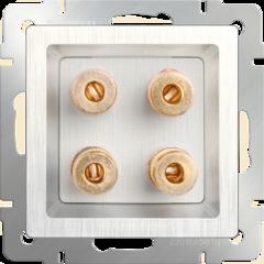 Акустическая розетка (перламутровый рифленый) WL13-AUDIOx4 Werkel