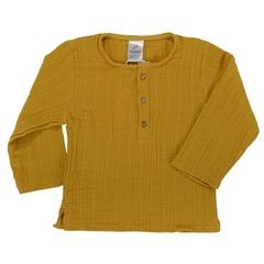 Рубашка из хлопкового муслина горчичного цвета из коллекции Essential 18-24M Tkano TK20-KIDS-SHI0002
