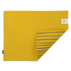 Cалфетка двухсторонняя под приборы из хлопка горчичного цвета с принтом Полоски из коллекции Prairie, 35х45 см Tkano TK20-PM0004