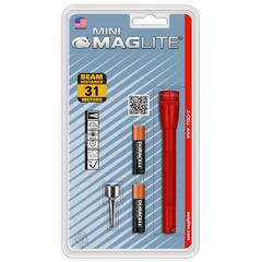 Фонарь MAGLITE, Mini, 2AAA, красный, 12,7 см, в блистере M3A036E