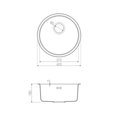 Кухонная мойка из нержавеющей стали OMOIKIRI Toya 42-GM (4993188)