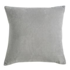 Подушка декоративная из хлопкового бархата серого цвета из коллекции Essential, 45х45 см Tkano TK19-CU0007