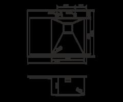 Кухонная мойка из нержавеющей стали OMOIKIRI Akisame 65-GM-R (4993098)