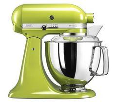 Миксер планетарный бытовой 4,83л KitchenAid (4 насадки, 2 чаши) (Зеленое яблоко) 5KSM175PSEGA