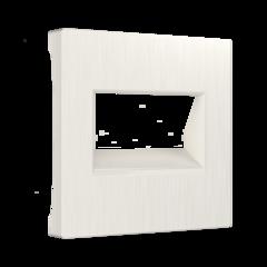 Накладка для двойной розетки Еthernet RJ-45 (перламутровый рифленый) WL13-RJ45+RJ45-CP Werkel