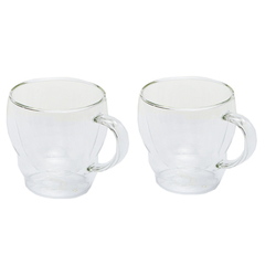 Кружка из двойного стекла с блюдцем  в наборе 2шт (стекло) 0.3L 900722