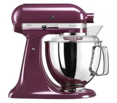 Миксер планетарный бытовой 4,83л KitchenAid (4 насадки, 2 чаши) (Фиолетовый) 5KSM175PSEBY