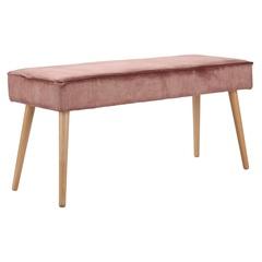 Банкетка Berg Serena, 48х101х36 см, велюр, розовая UBE-SEPK601520