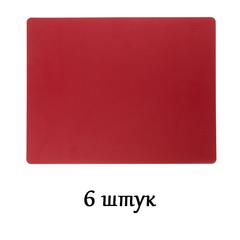 Комплект из 6 подстановочных салфеток 35x45 см LindDNA Bull red 98407