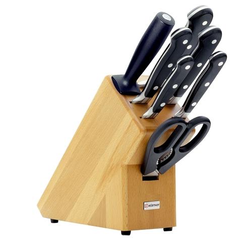 Набор из 5 кухонных ножей, ножниц, мусата и подставки WUSTHOF Classic (Золинген) арт. 9835-200