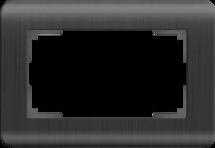 Рамка для двойной розетки (графит) WL12-Frame-01-DBL Werkel