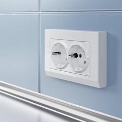 Рамка для двойной розетки (белый) WL04-Frame-01-DBL-white Werkel