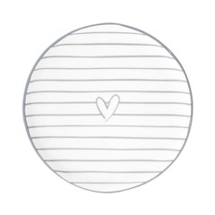 Десертная тарелка Stripes Нeart Grey Bastion Collections RJ/CAKE 003 GR