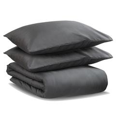 Комплект постельного белья двуспальный из сатина темно-серого цвета из коллекции Wild Tkano TK20-DC0039