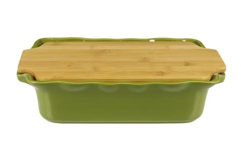 Форма с доcкой прямоугольная 37 см Appolia Cook&Stock DARK GREEN 131037005
