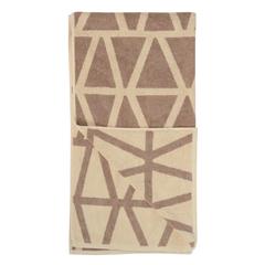 Полотенце жаккардовое банное с авторским дизайном Geometry, коричнево-бежевое Wild, 70х140 см Tkano TK19-BT0002