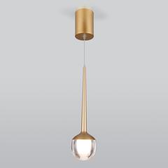Подвесной светодиодный светильник DLS028 6W 4200K золото Elektrostandard