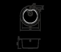 Кухонная мойка из искусственного гранита (Tetogranit) OMOIKIRI Yasugata 48R-DC (4993211)