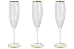 6 бокалов для шампанского Пиза золото Same 22008