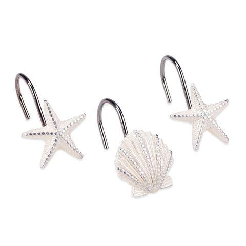 Набор из 12 крючков для шторки Avanti Sequin Shells 13673G