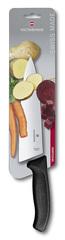 Нож Victorinox Шеф 20 см широкое, черный, в картонном блистере 6.8063.20B