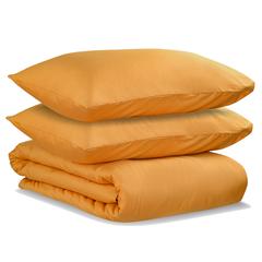 Комплект постельного белья двуспальный из сатина цвета шафрана из коллекции Wild Tkano TK20-DC0037